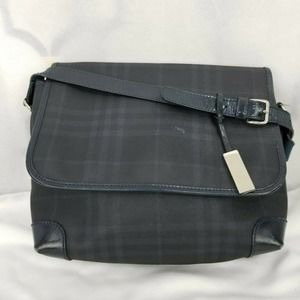 Burberry London Check Messenger Style Bag Authenti